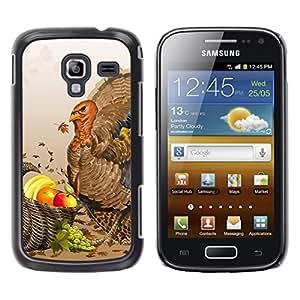 TopCaseStore / la caja del caucho duro de la cubierta de protección de la piel - Fruit Turkey - Samsung Galaxy Ace 2 I8160 Ace II X S7560M