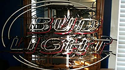 New Bud Light Hand-made Beer Bar Pub Store Garage Real Glass Neon Light Sign