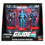 What's Included? (1)Cobra's Senior Ranking Officers action figure set Specs: Brand:G.I. Joe A Real American Hero Manufacturer:Hasbro Set #: 3 of 3 Toyline/Notable Features:Toys R Us Exclusive 3-action figure set containing Cobra Officer, Cobra Co...