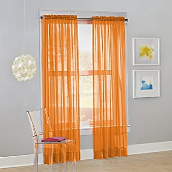 No. 918 Calypso Sheer Voile Rod Pocket Curtain Panel, 59