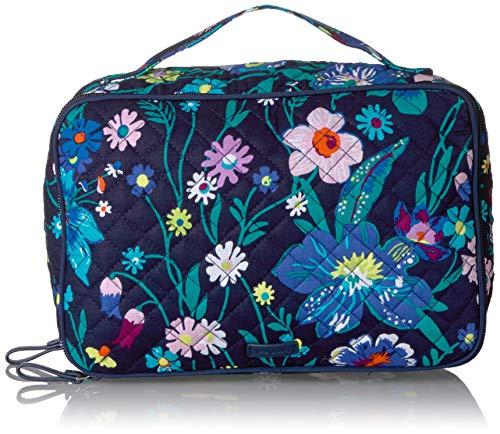 (Vera Bradley Iconic Large Blush & Brush Case, Signature Cotton, Moonlight Garde)
