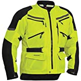 Firstgear Adventure Mesh DayGlo Yellow/Black Jacket, M