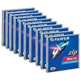Simply Silver - 10 x Pack of New Bank Fujifilm Zip Disc 100MB for MAC Computer Formatted Drive