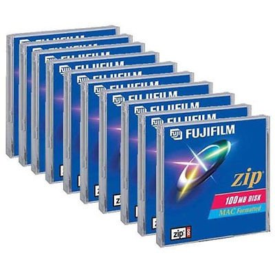 Simply Silver - 10 x Pack of New Bank Fujifilm Zip Disc 100MB for MAC Computer Formatted Drive by Simply Silver