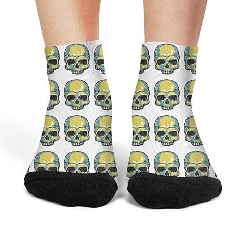 Womens custom skull sugar skull want u No-Show Liner Flight Crew Socks]()