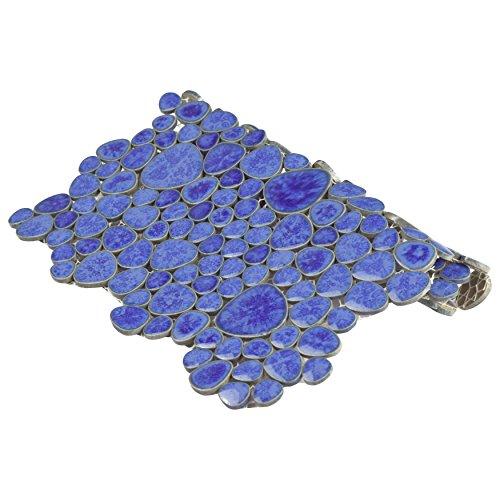SomerTile FKOPS144 Boulder Cloud Porcelain Floor and Wall Tile, 11'' x 11'', Blue by SOMERTILE (Image #5)