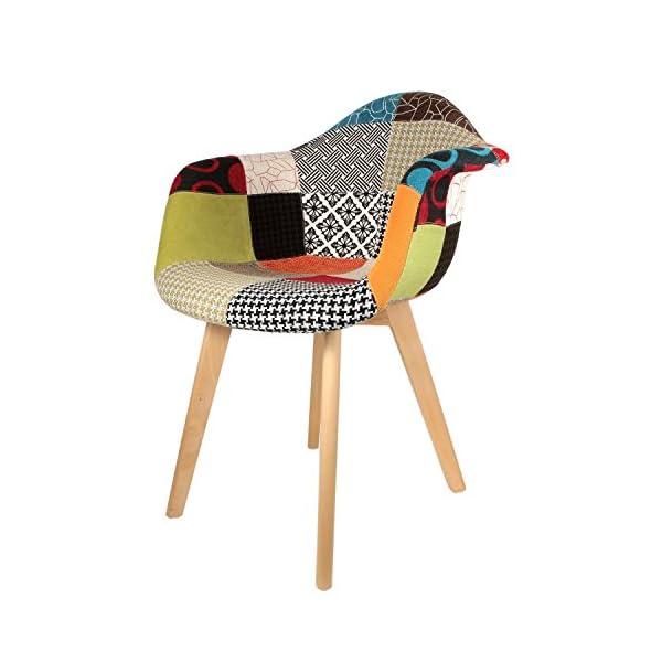 The Home Deco Factory Fauteuil Polyester Multicolore Taille Unique