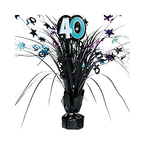 Amscan Continuous 40th Birthday Party Spray Table Centerpiece Decoration,, 1 Piece, Multi, 15