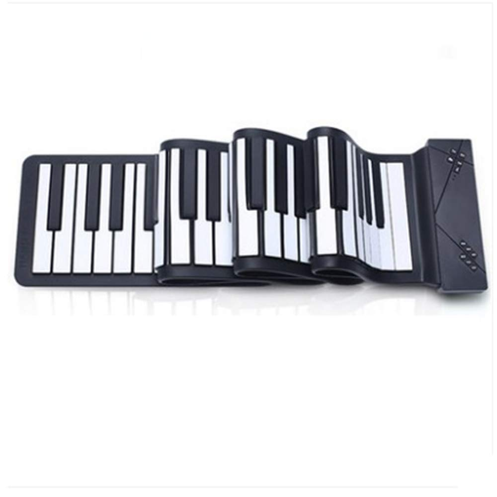 C Five 88 Keys Portable Piano Flexible Foldable Piano Digital Music Instrument Roll Up Electronic Soft Keyboard Piano (88 Keys/Black)