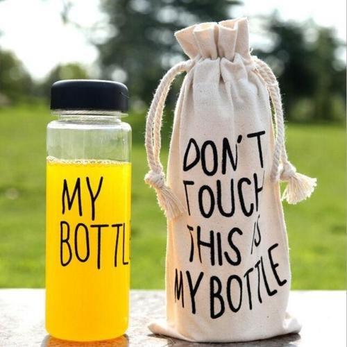 MAZIMARK-Popular Clear My Bottle Sport Fruit Juice Water Cup Portable 500ML Travel Bottle by MAZIMARK