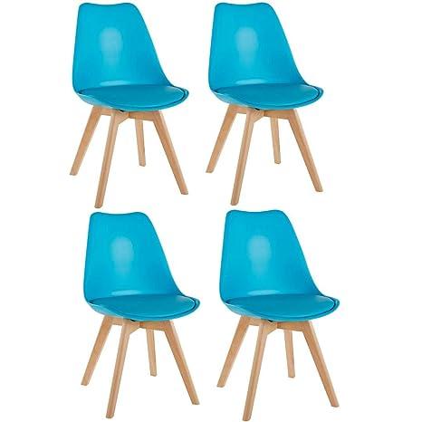 per ufficio cucina Blue design contemporaneo Millhouse salotto sedia da pranzo Tulip gambe in legno massello naturale con cuscino imbottito sala da pranzo