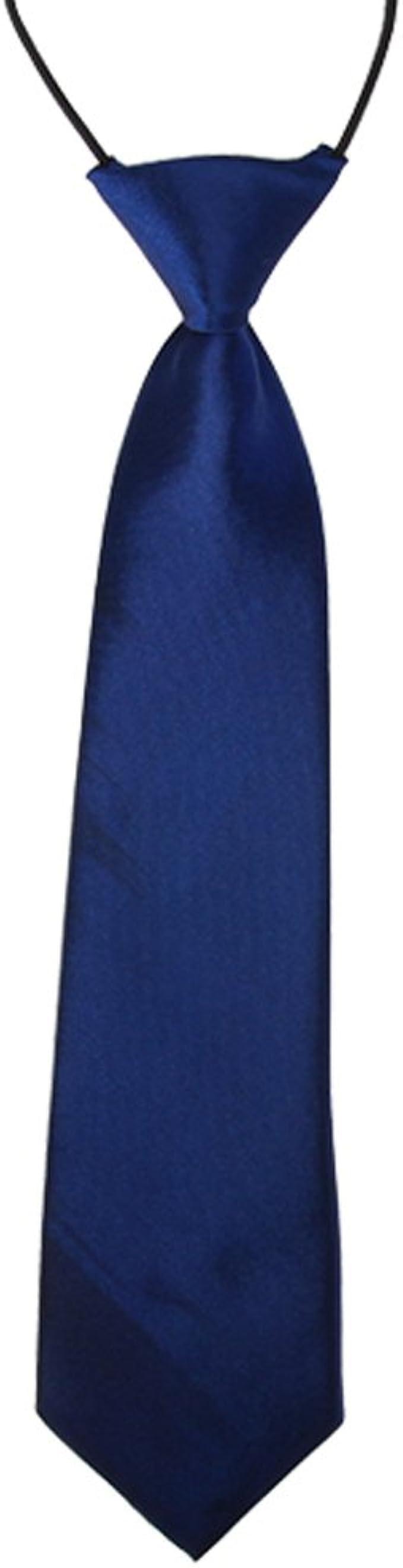 CellDeal-Satin Child Kids School Boy Wedding Elastic Neck Tie Purple