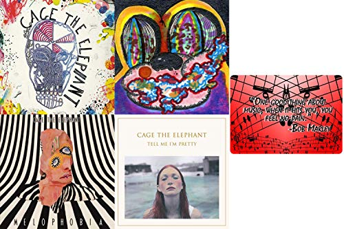 Cage the Elephant: 4 Studio Albums CD Collection with Bonus Art Card (Tell Me I'm Pretty / Melophobia / Thank You, Happy Birthday and More)