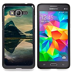 "Qstar Arte & diseño plástico duro Fundas Cover Cubre Hard Case Cover para Samsung Galaxy Grand Prime G530H / DS (Mountain Mist Lago"")"