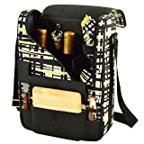 Picnic at Ascot Wine and Cheese Cooler Bag Equipped for 2 with Glasses, Napkins, Cutting Board, Corkscrew, etc.- Paris