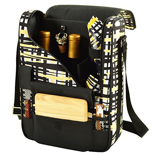 Picnic at Ascot Wine and Cheese Cooler Bag Equipped for 2 with Glasses, Napkins, Cutting Board, Corkscrew, etc.- Paris (Cooler Cheese Wine)