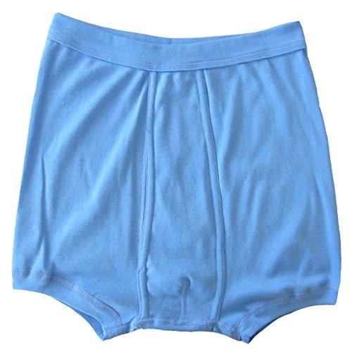 HERMKO 3940 4er Pack Herren Pagen mit Eingriff Schlüpfer und angeschnittenem Bein hoher Bund / Leib, Farbe:hellblau, Größe:D 8 = EU XXL