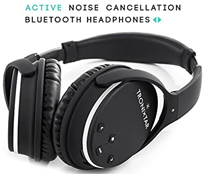 TRONIXTAR Active Noise Cancelling Wireless Bluetooth Over-Ear Stereo Headphones With Multi-Function Music Volume Control And Built-In Microphone, Reduces Surrounding Noise Up to 20dB - TRX-ANC3