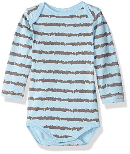 Coccoli Baby Boys' Rail Print Jersey Knit Cotton/Modal Romper, Slate/Blue, 1 - Cotton Coccoli