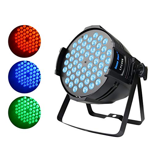 DJ Par Light,90W RGB Full Color Wash Light, Sound DMX512 Controlled LED Stage Light for Wedding Birthday Christmas Party Show Sound - Lighting Products Progress Like