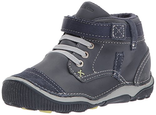 Stride Rite Boys' SRTech Garrett Ankle Boot, Navy, 6 W US Toddler]()
