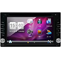 2015 Best Sellers Double Din 6.2- inch Digital Touch Screen Car Stereo DVD Player Radio In Dash Support BT/Bluetooth/1080P/SD/USB/AM/FM Radio/CPU: Dual Core CORTEX A9,2GHz frequency +Built in 4GB iNAND+RAM DDR3 1GB+3D UI Design