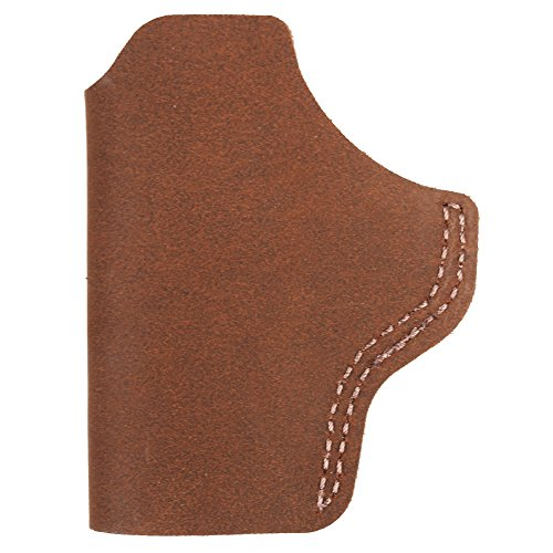 (Bianchi, 6 Waistband Holster, Natural Suede, Glock 43, S&W Shield, Ruger LC9, Sprgfld XDS, Right Hand )