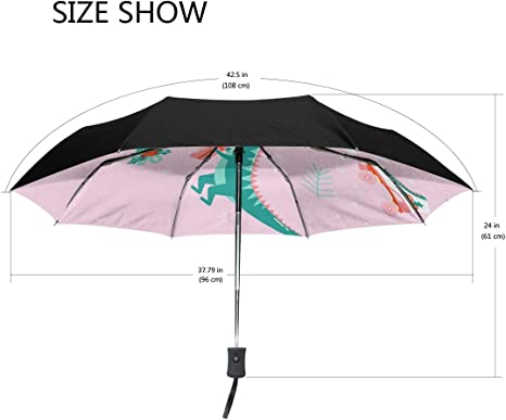 S Husky Umbrella Unicorn Seahorse Cartoon Star Automatic Windproof Travel Umbrella with UV Protection for Women 2040490