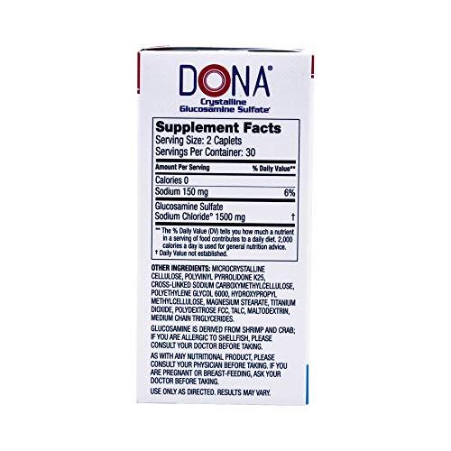 Dona Crystalline Glucosamine Sulfate, 750 Mg, 60 Count by DONA (Image #4)