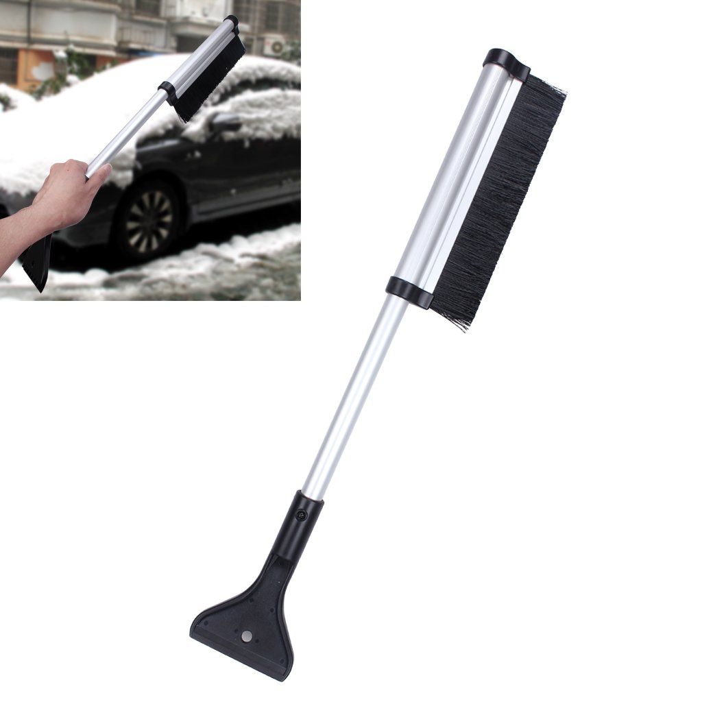 EFORCAR Snow Brush Ice Scraper Removal Aluminum Extendable Telescoping Design for Car Size from 16.5' to 25.5' Easy Storage