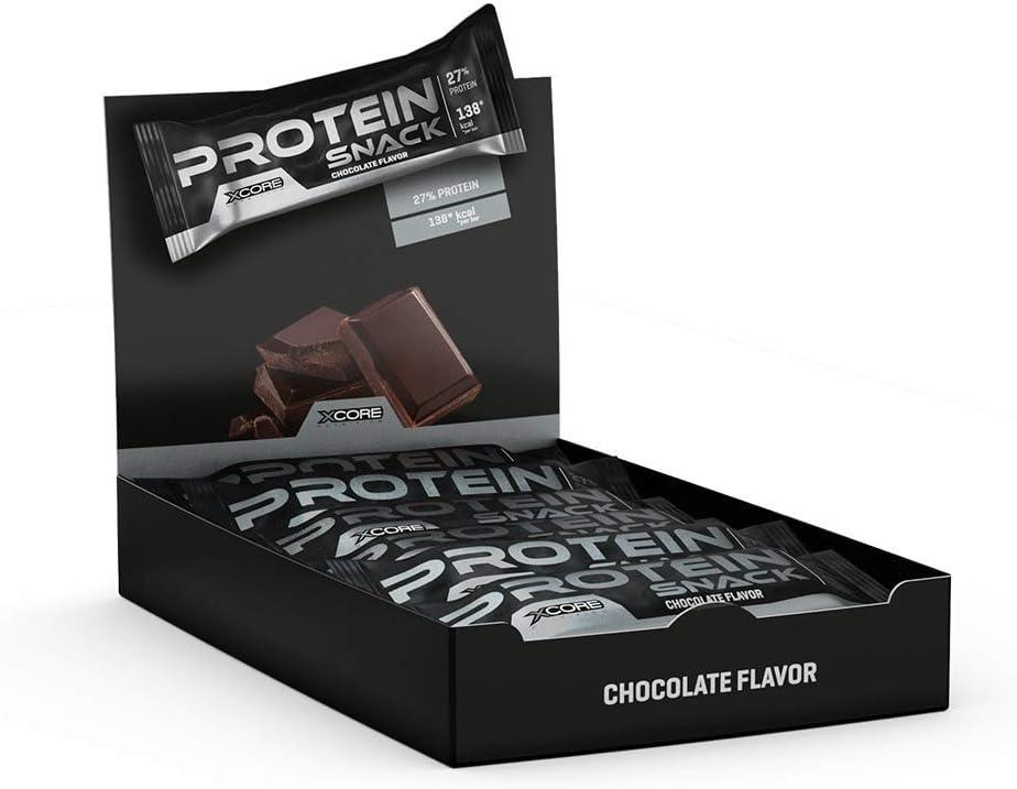 Xcore Pro Snack Barritas Nutricionales, Sabor a Chocolate - 12 Barras