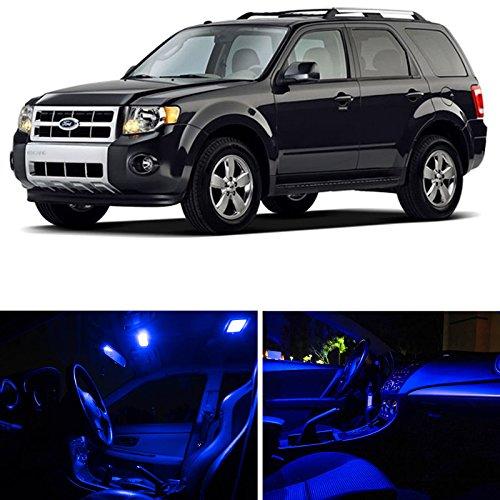 LEDpartsNow Ford Escape 2008-2012 Blue Premium LED Interior Lights Package Kit (8 Pieces)