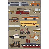 Momeni Rugs LMOJULMJ-8COT3050 Lil Mo Whimsy Collection, Kids Themed Hand Carved & Tufted Area Rug, 3 x 5, Concrete Grey