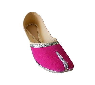 KALRA Creations Traditionelle Samt indischen Damen Ballerinas, Ballerinas, Ballerinas, Pink ... 24865b