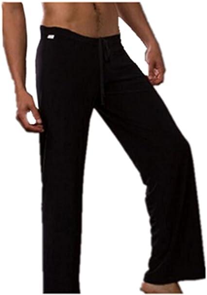 Leright Mens Yoga Long Pants Loose-Fitting Pajama Trousers Lounge Sleep Pants