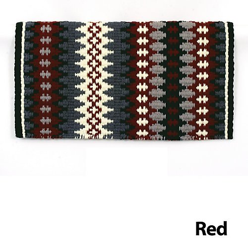 Mayatex Nova New Zealand Wool Saddle Blanket Red Wire Horse Tack