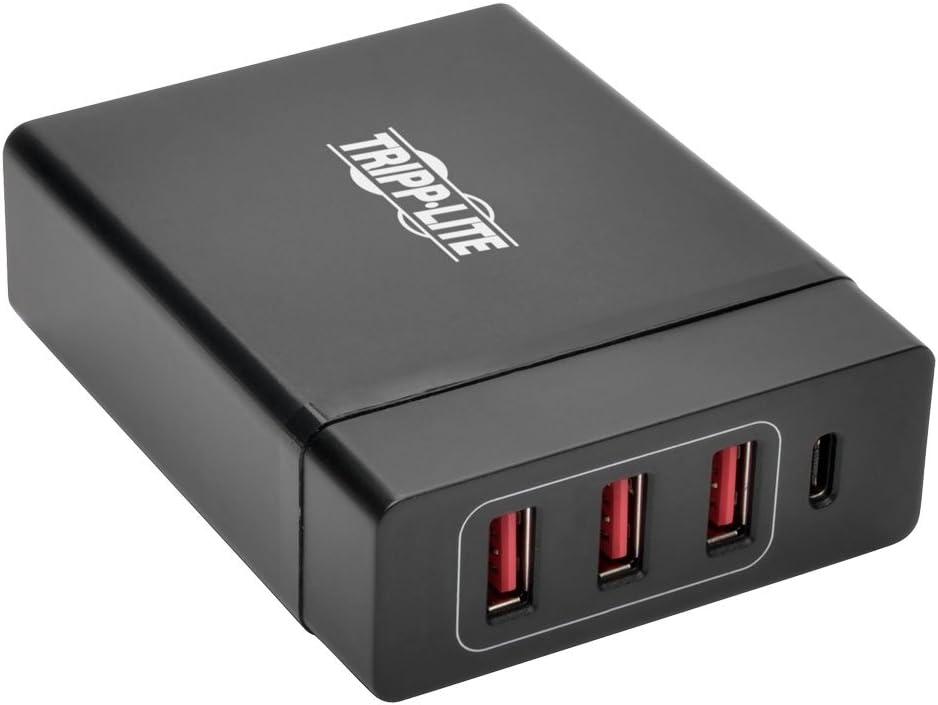 Tripp Lite 4-Port USB Charging Station Hub w/USB-C Charging & USB-A Auto Sensing Ports for Tablets, Smartphones, Chromebooks, MacBooks (U280-004-WS3C1)
