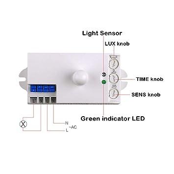 Amazon.com: sensky bs029 a 110 V Sensor de microondas ...