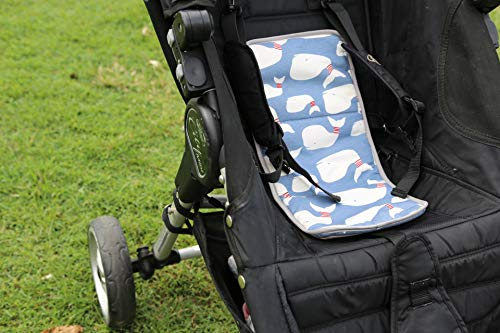 Car Seat Cooler for Baby Strollers, Carseats, Baby Carriers. Effortlessly Keep Baby Cool in Summer. This Cooling Pad Easily Attaches to Infant Car Seats, Strollers, or use as a Backpack. Blue Large
