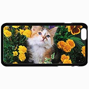 Customized Cellphone Case Back Cover For iPhone 6, Protective Hardshell Case Personalized And Cat Black
