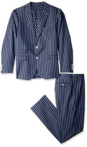 Paisley & Gray Men's Ashton Slim Fit Suit, Navy, 40R/32W ()