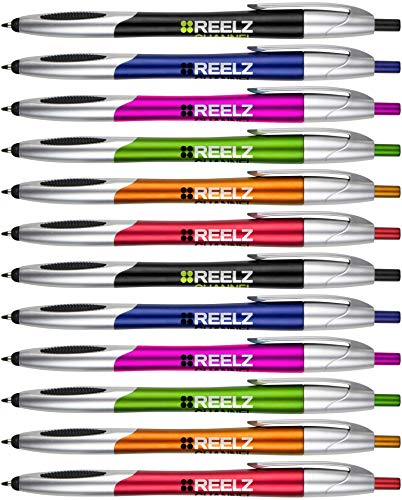 The Glide Ballpoint Pen with Stylus. Click action Custom Personalized Black writing ink. Full color Printed Name pens. Office with Your Logo/Message FREE PERZONALIZATION - 14 Qty (Assorted -