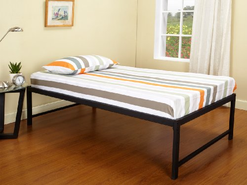 kings brand b39 1 b39 2 metal day bed frame twin black - Queen Bed Frame Amazon