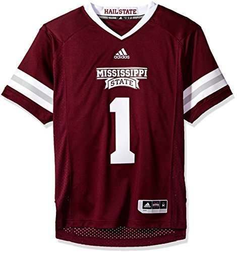 adidas NCAA Mississippi State Bulldogs Adult Men Premier Football Jersey, Medium, Maroon State Bulldogs Football Jersey