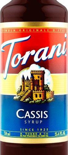 Torani Cassis Flavoring Syrup - 750ml (Liqueur De Cassis Creme)