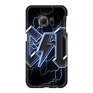 Samsung Galaxy S6 Gvf4958rjBG Allow Personal Design Realistic Ac Dc Band Skin High Quality Hard Cell-phone Cases -SherriFakhry