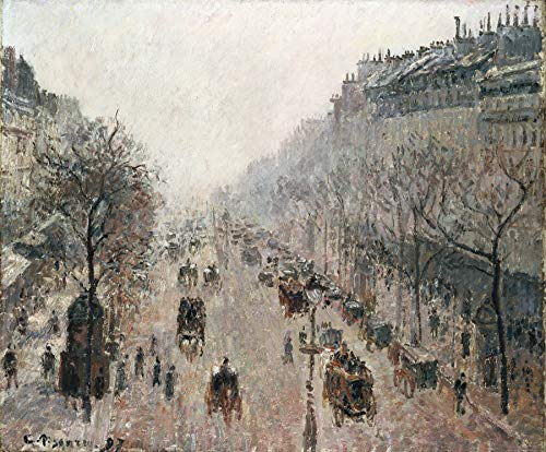- Camille Pissarro Boulevard Montmartre on a Sunny Foggy Morning Private Collection 30