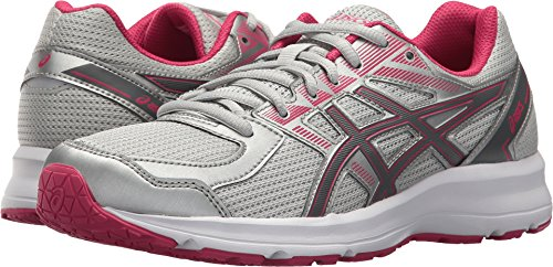 ASICS Women's T7K9N.9697 Jolt Running Shoes, Glacier Grey/Carbon/Bright Rose, 10.5 (D)
