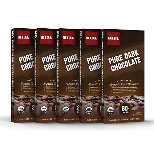 - Bija Chocolates Organic 80% Pure Cacao Dark Chocolate, 3.17 Ounce (pack Of 5)