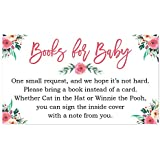 Floral Baby Shower Bring a Book Insert - 50 Count